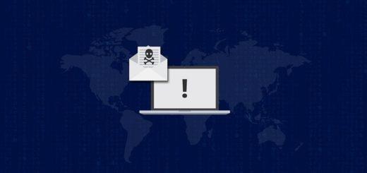 Computer med falsk mail